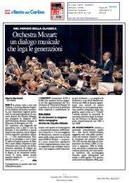 Orchestra Mozart: un dialogo musicale che lega le generazioni