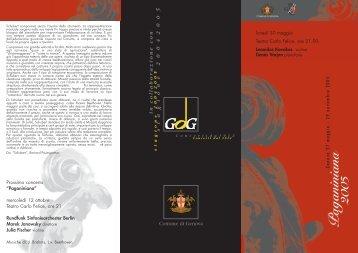 Programma di sala - Gog