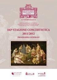 102a Stagione ConCertiStiCa 2011/2012 - Ordine degli Avvocati di ...