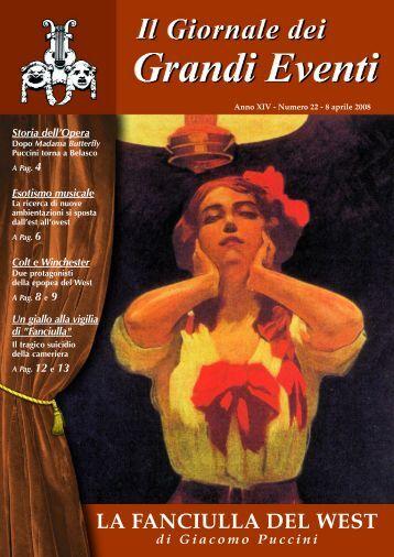LA FANCIULLA DEL WEST - Il giornale dei Grandi Eventi
