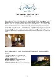 Masterclass e Country Festival 2013 Castello Ducale Castel ...