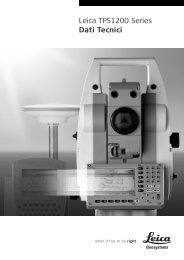 Leica TPS1200 Series Dati Tecnici