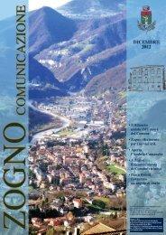 Zogno Comunicazione - Dicembre 2012 - Comune di Zogno