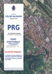 Relazione Generale Variante Piano Strutturale - Comune di Figline ...