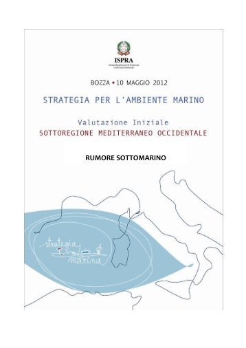 RUMORE SOTTOMARINO - La strategia marina - Ispra