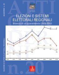 elezioni e sistemi elettorali regionali - Consiglio Regionale Veneto