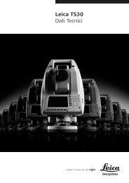 Leica TS30 Dati Tecnici - Leica Geosystems