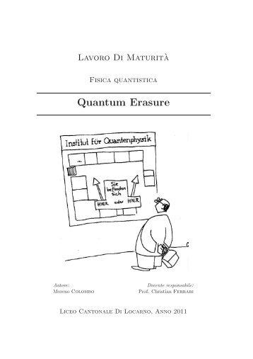 Quantum Erasure - Liceo cantonale di Locarno