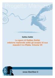 opere di Galileo Galilei - Liber Liber