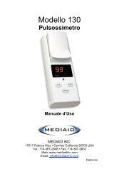 Modello 130 Pulsossimetro Manuale d'Uso - Italian ... - Mediaid Inc