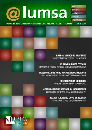 n° 1 - Luglio 2011 - Lumsa