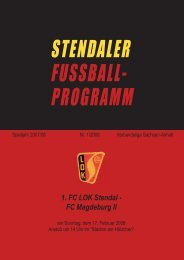 STENDALER FUSSBALL- PROGRAMM
