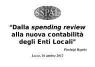 """DL 174/2012 """"Enti Locali"""" - sspal"""