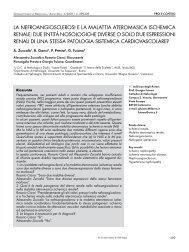la nefroangiosclerosi e la malattia ateromasica ischemica renale