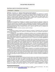 Palestras e Resumos - Colégio Brasileiro de Parasitologia Veterinária
