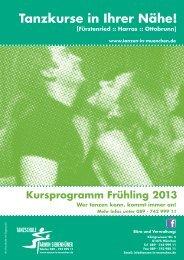 Kursprogramm Frühling - Tanzen beim Siebenhüner