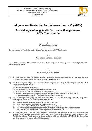 Allgemeiner Deutscher Tanzlehrerverband e.V. (ADTV)