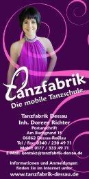 Prospekt - Tanzfabrik Dessau
