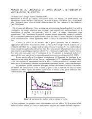 analisi di oli essenziali di citrus durante il periodo di maturazione del ...