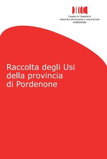 Scarica la raccolta - CCIAA di Pordenone - Camere di Commercio
