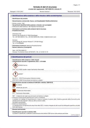 Scheda di dati di sicurezza - Chemia Brugg AG