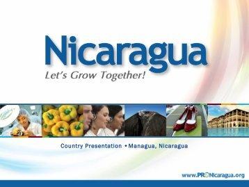 Country Presentation •Managua, Nicaragua