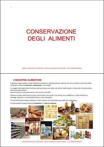la conservazione degli alimenti - Gmarquis.It