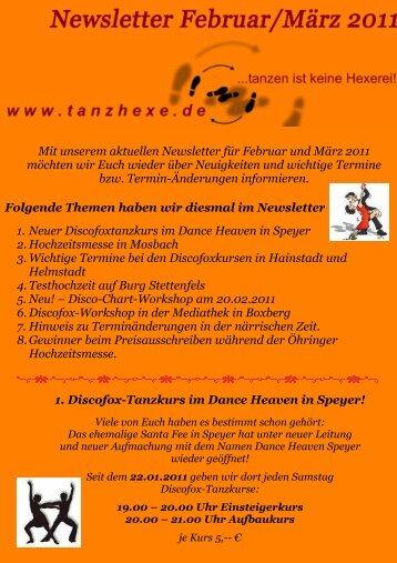 Mit unserem aktuellen Newsletter für Februar und März ... - Tanzhexe