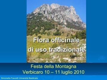 Flora officinale di uso tradizionale Simonetta Fascetti - Woden