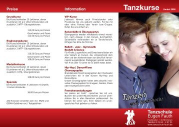 Specials - Tanzschule Eugen Fauth