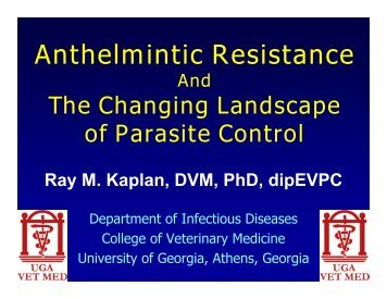 Anthelmintic Resistance - Small Ruminant Parasite Control