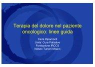 Terapia del dolore nel paziente oncologico - Dott ... - Sardegna Salute