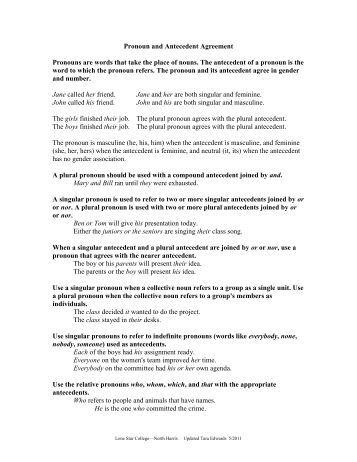 pronoun-antecedent agreement - Scholastic