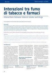 Interazioni tra fumo di tabacco e farmaci
