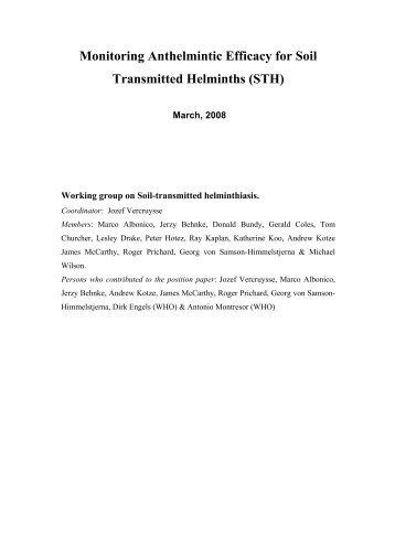 soil transmitted helminths essay Assemblages during soil-transmitted helminth infections in indonesia and liberia bruce a rosa1, taniawati supali2, lincoln gankpala3, yenny djuardi2.