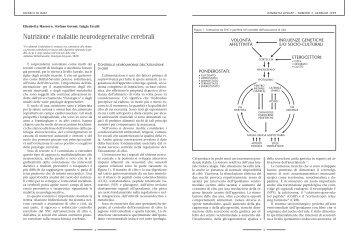 Nutrizione e malattie neurodegenerative cerebrali