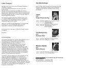 Die Workshops Jazz* Contemporary Modern Ballet - Tanzwerkstatt ...