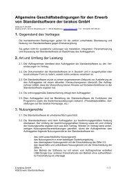 Mustervertrag: EVB-IT Überlassung Typ A - Tarakos GmbH