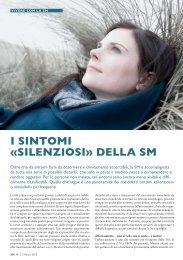 I SINTOMI «SILENZIOSI» DELLA SM