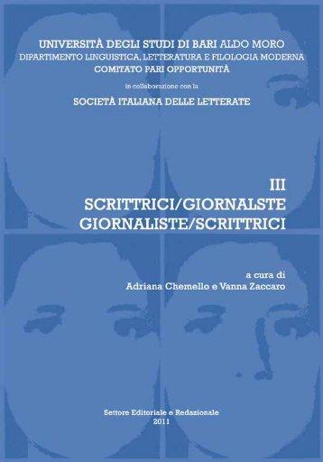 Scrittrici Giornaliste - Università degli Studi di Bari
