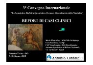 3° Convegno Internazionale REPORT DI CASI CLINICI - Società ...