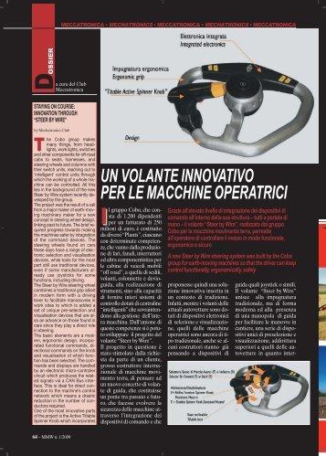 un volante innovativo per le macchine operatrici - FederUnacoma