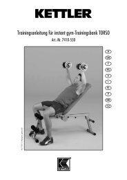 Manuale utente Torso di Kettler - Bodybuilding