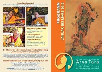 Flyer für Magdeburg - Buddhistische Klosterschule Ganden Tashi ...