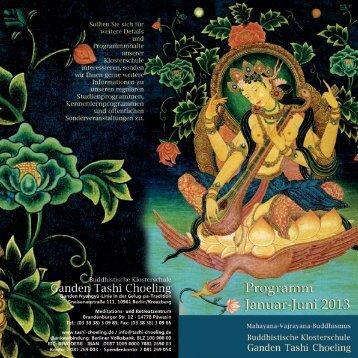 Flyer für Frankfurt/Main - Buddhistische Klosterschule Ganden Tashi ...