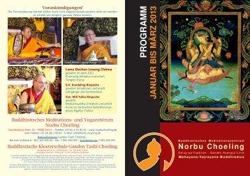 Flyer für Erfurt - Buddhistische Klosterschule Ganden Tashi Choeling