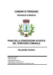 Progetto di zonizzazione acustica - Comune di Trenzano