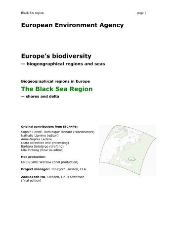 Report on the Black Sea Region - European Environment Agency