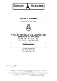 PIANO DI ZONIZZAZIONE ACUSTICA DEL TERRITORIO COMUNALE