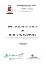 ZONIZZAZIONE ACUSTICA TERRITORIO COMUNALE - Comune di ...